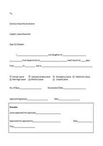 doc 12401754 sample leave application form sample