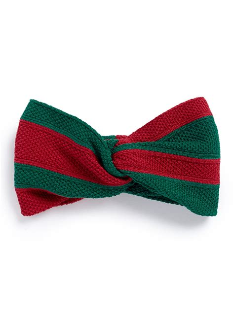 Striped Knot Headband lyst gucci web stripe cotton knot headband