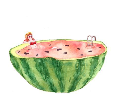 fresh watermelon by frecklednose124 on deviantart