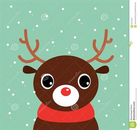 cute cartoon christmas deer royalty  stock