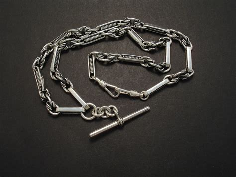 Handmade Silver Chains - silver jewellery albert chain handmade in sydney