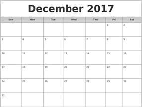 Calendar 2017 August December December 2017 Free Monthly Calendar