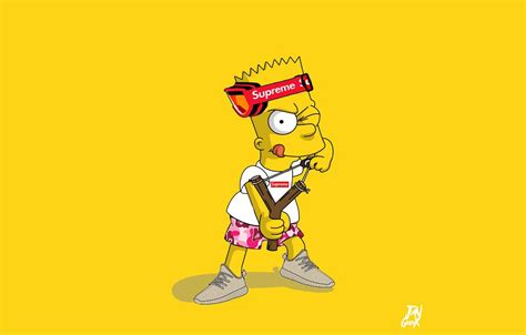 Kaos Distro Bape X Baby Milo gambar kartun the simpsons supreme