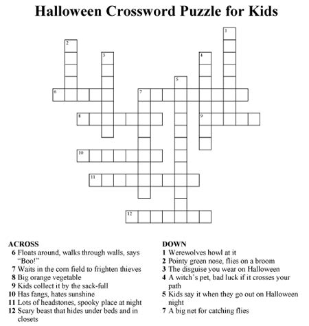 easy crossword puzzles in english click to download pdf of halloween crossword puzzle for