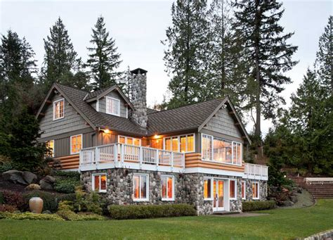 what is a daylight basement rustic cabin on horsehead bay house