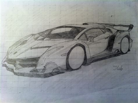 How To Draw A Lamborghini Veneno How To Draw A Car Drawing Lamborghini Veneno