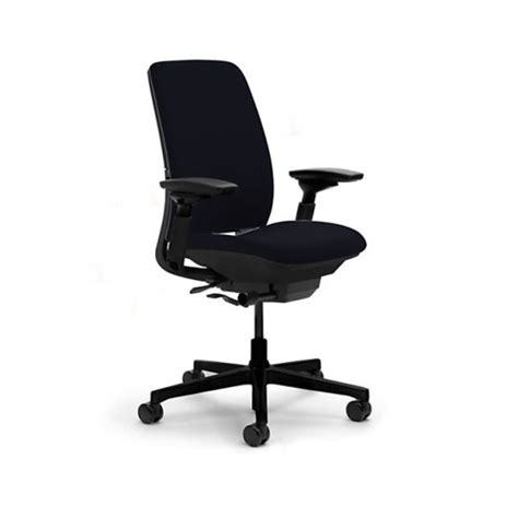 Steelcase Amia Chair Fully Adjustable Model In Black Durable Office Chair