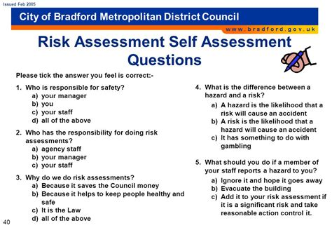 risk assessment pack ppt