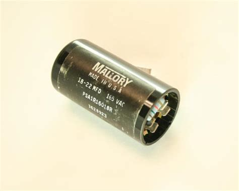 capacitor start motor applications psa1r16018r mallory capacitor 18uf 165v application motor start 2020013430
