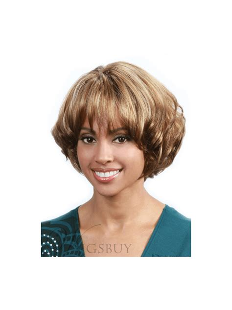 expensive layered wigs african american women short straight layered bob