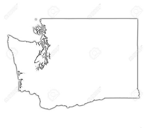 Blank Outline Map Of Washington State by Seattle Washington Map Outline Afputra