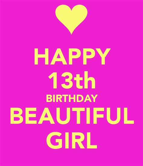 Happy 13 Birthday Wishes Happy 13th Birthday Beautiful Girl Poster Nick Keep