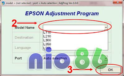 tombol reset printer epson l210 epson l110 l210 l300 l350 and l355 blink reset