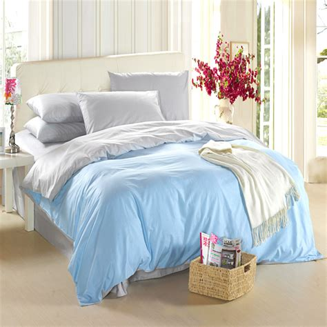 light blue quilt set aliexpress com buy light blue silver grey bedding set