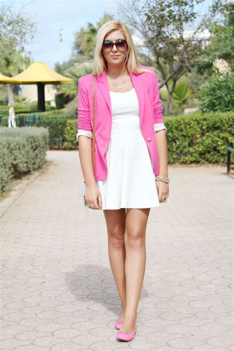 dress blazer pink 11 awesome ways to wear white dress this summer aelida