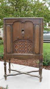 willow creek antique radio turned cabinet
