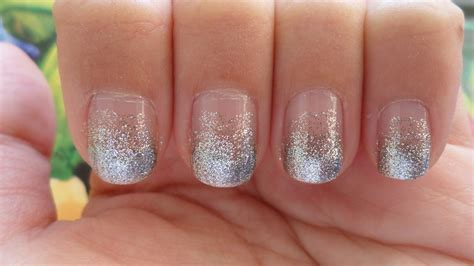 Glitter Nail by Will Work For Makeup Glittery Gradient Nails
