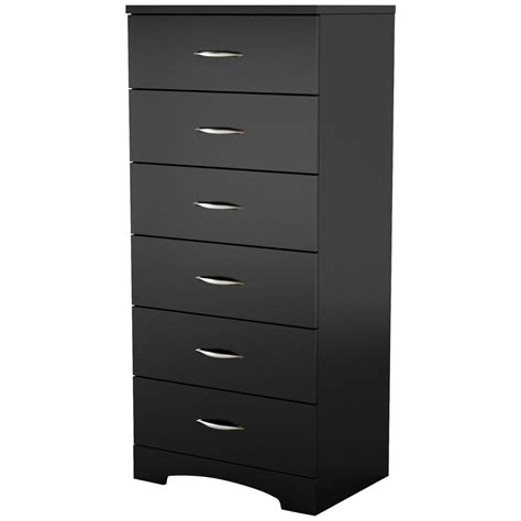 black bedroom chest black 6 drawer lingerie chest for contemporary bedroom