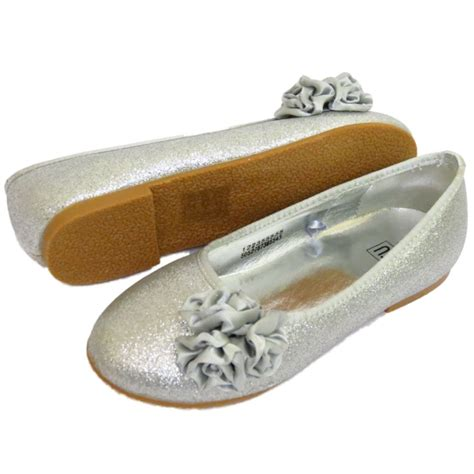 Silver Glitter Flats Wedding by Childrens Flat Silver Glitter Wedding
