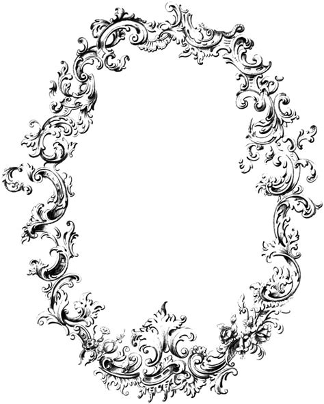 free fancy frame vintage clip art image oh so nifty