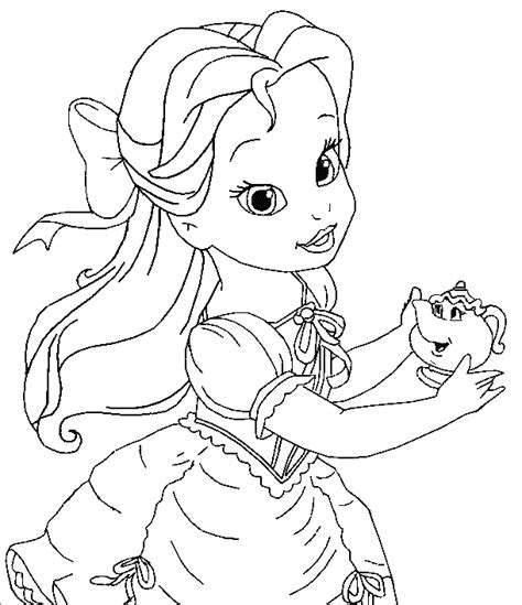 Baby Disney Princess Coloring Pages Cute Princess Coloring Pages Disney Babies Princesses Free Coloring Sheets