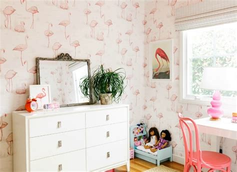 Flamingo Wallpaper Room | flamingo fancy centsational girl