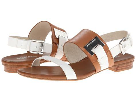 michael kors flat sandals michael michael kors guiliana flat sandal in brown