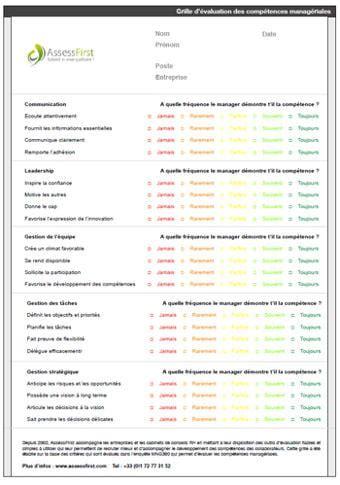 Grille Evaluation Cv by Grille 233 Valuation Des Comp 233 Tences Manag 233 Riales Mod 232 Le