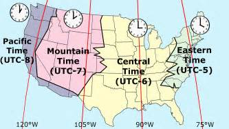 time zones on us map time zones map of united states
