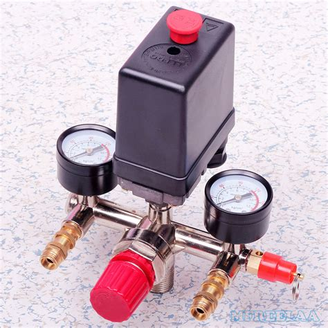 Kompressor Angin Tekanan Tinggi Heavy Duty Air Compressor Pompa Angin 90 120psi air compressor pressure switch valve manifold regulator gauges ebay