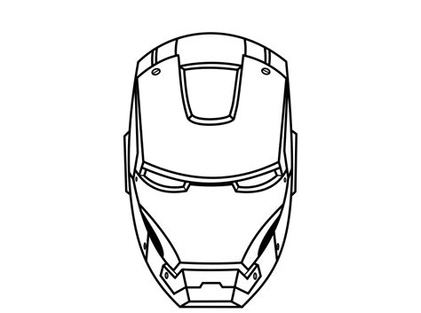 ironman helmet template black iron mask images