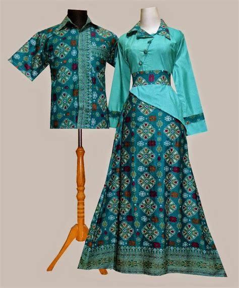 model baju gamis batik kombinasi polos terbaru