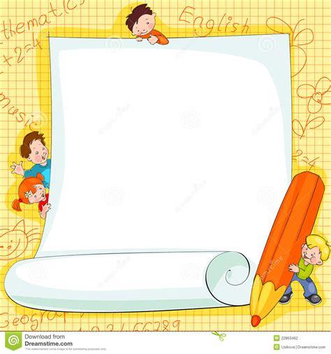 frame design bg frames on school kids stock vector illustration of