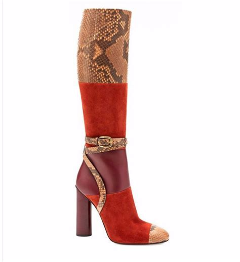high heel fashion boots zkshoes 2015 new winter fashion snake color knee