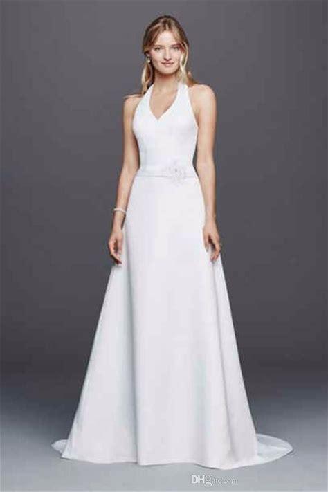 Discount Wedding Dresses Halter by Discount Halter Neck Wedding Dress With Flower Applique