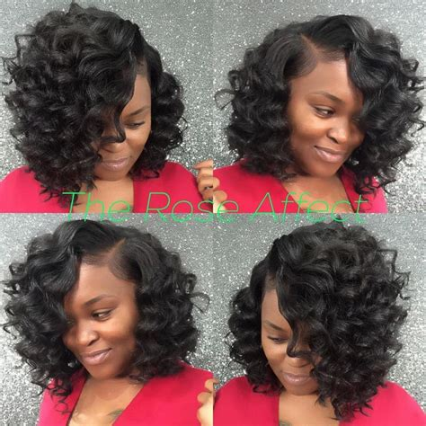 cute curly bob sew in this is the rose affect get