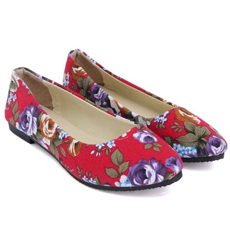 shoes for flower loafers fashion autumn print flower flat shoe