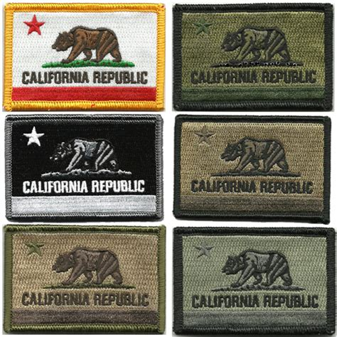 state tactical patches 2 quot x3 quot california tactical patches