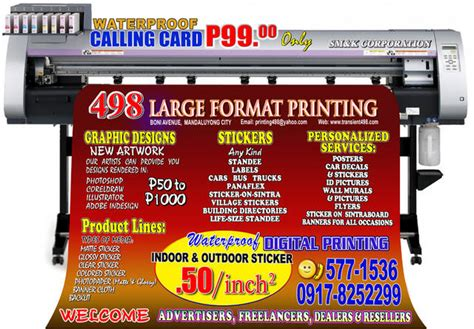 printable clear sticker paper philippines standee event exhibit truck car sticker printing graphic