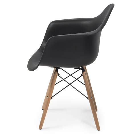 NEW Set of (2) Eames DSW Mid Century Dining Arm Chair