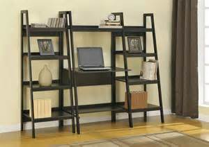 Leaning Bookshelf Desk Black Bookcase Feel The Home