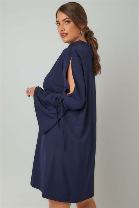 Check Value Of Visa Vanilla Gift Card - blue vanilla curve navy dress with flute sleeves choker neck plus size 18 to 28