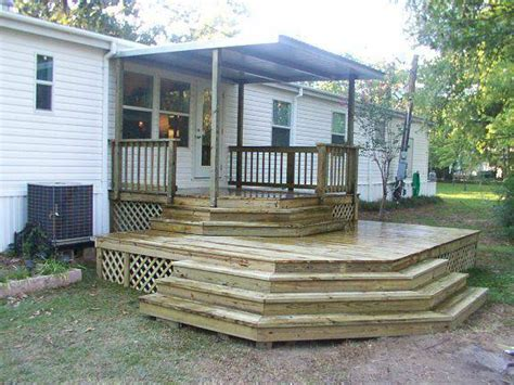 great deck designs 45 great manufactured home porch designs mobile home living