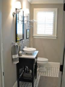 small guest bathroom ideas small gray guest bathroom ideas with black wooden console sink added vintage bright wall l