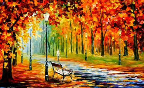 Original Painting On Canvasautumn Landscapemodern Painting Autumn Paintings By Leonid Afremov For