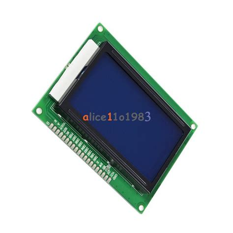 Lcd Advan S3 Tested 5v 12864 lcd display module 128x64 dots graphic matrix lcd blue backlight ebay