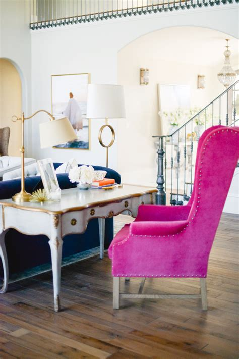 bedroom pink velvet armchair pictures decorations living room reveal pink peonies by rach parcell