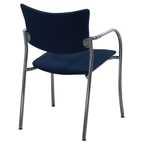 Companion Chair by Versteel Companion Used Stack Chair Navy Checker