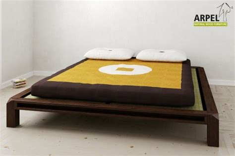 complete japanese bed with tatami and cotton futon