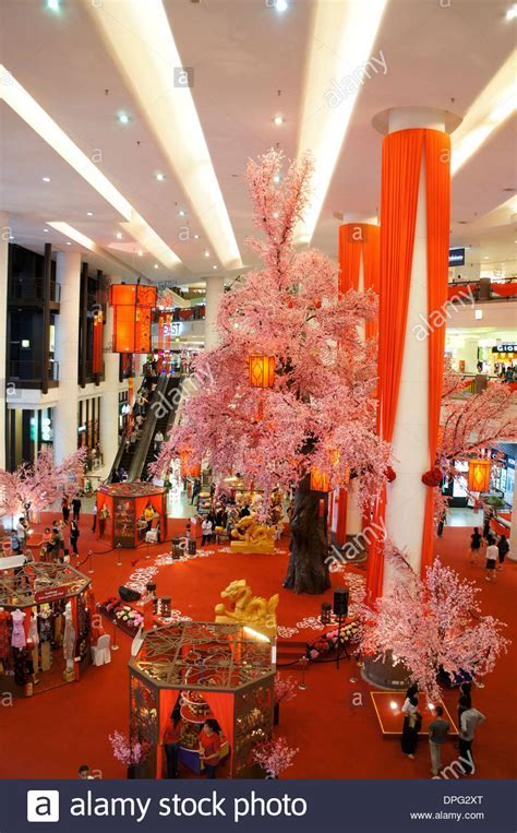 chinese new year decoration of shopping mall in Malaysia